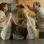 Teen daughter agonizes while parents fight